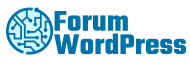 forum wordpress logo blue